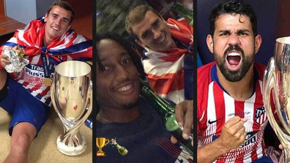 Las fotos y reacciones de los jugadores del Atlético de Madrid tras...