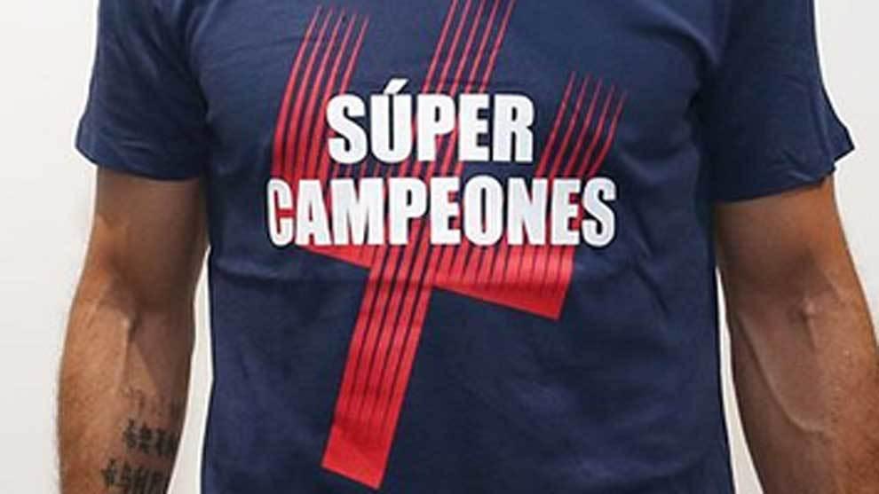 El equipo ya luce la camiseta de súper campeones! ¿Quieres la...