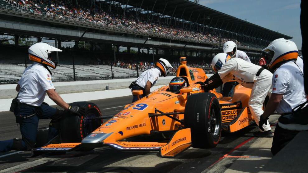 Fernando Alonso en Indy 500.