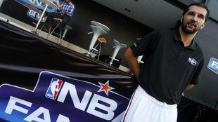 Peja Stojakovic, en un acto de la NBA.