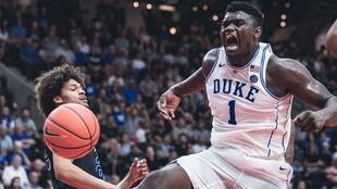 Zion Williamson en su debut con Duke
