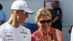 Michael y Corinna Schumacher.