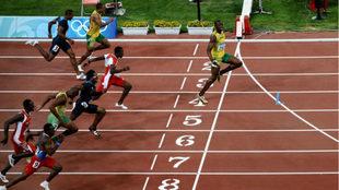 Final de la carrera de Pekín 2008.