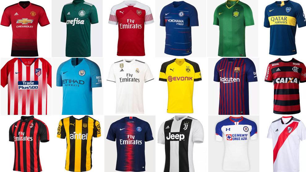 El ránking de las nuevas camisetas de los grandes del fútbol mundial ... 66936be8f6d04