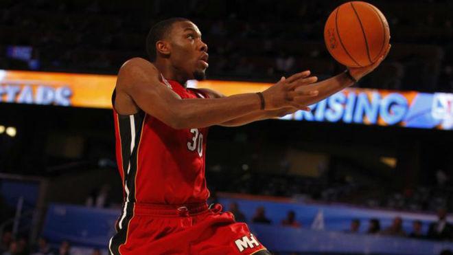 Norris Cole durante un partido de novatos en el All Star NBA