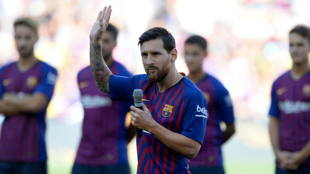 Laliga santander barcelonas obsession with the champions league fc barcelona star and new captain lionel messi stopboris Choice Image