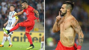 Negredo celebra su gol en Austria que dio el pase al Besiktas