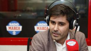 David Aganzo en una entrevista para Radio MARCA
