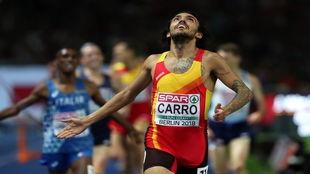 Fernando Carro cruza segundo la meta de Berlín