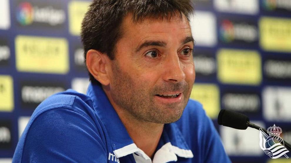 Rueda de prensa de Asier Garitano antes del inicio de La Liga