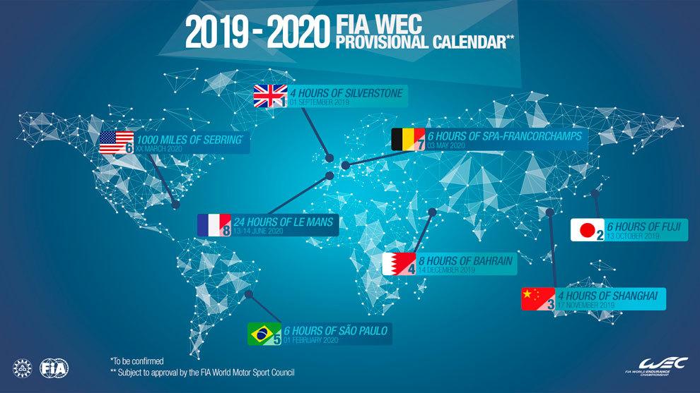 Wrc Calendario 2020.El Calendario Del Mundial De Resistencia 2019 2020 Tendra