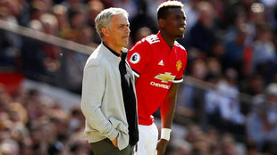 Jose Mourinho and Paul Pogba.