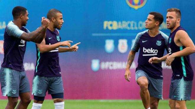 Malcom, Rafinha, Coutinho and Arthur.