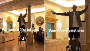 Cristiano Ronaldo breaks into song!