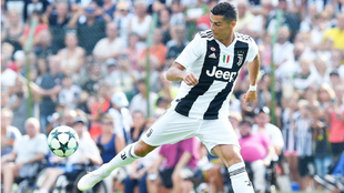 Ronaldo in action during a soccer friendly match between Juve A and...