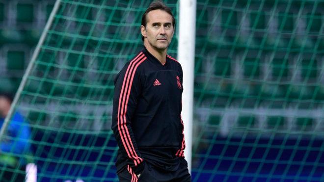 Julen Lopetegui, en el entrenamiento previo a la Supercopa de Europa.