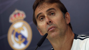 Julen Lopetegui, Real Madrid's coach, at the press conference