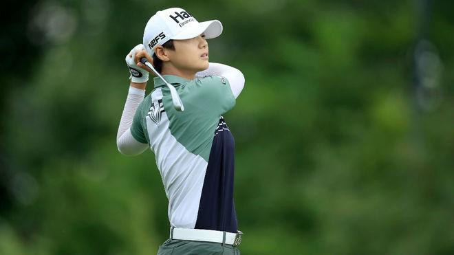 Sung Hyun Park, durante la jornada