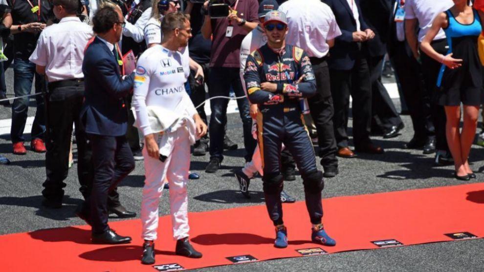 Carlos Sainz y Jenson Button.