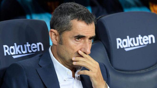 FC Barcelona manager Ernesto Valverde.