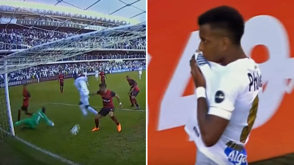 Rodrygo plays in attack to help take Santos away from relegation