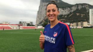 Jenni Hermoso posa durante un entrenamiento con el Atlético de...