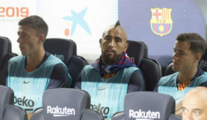 Lenglet, Vidal and Coutinho.