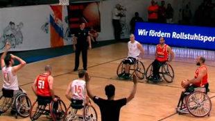 Una imagen del partido entre Holanda y España.