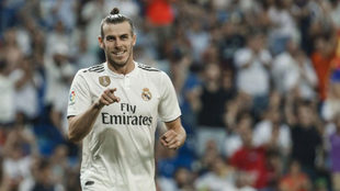 Bale celebra su gol al Getafe.