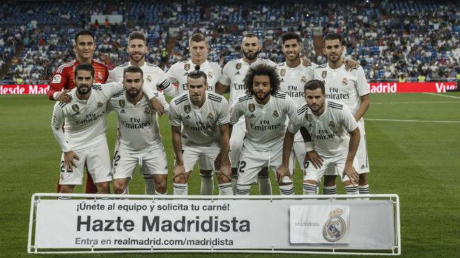 El once del Real Madrid en su debut en Liga este curso ante el Getafe