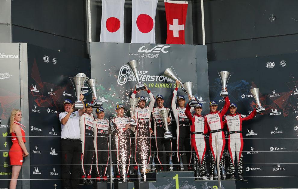 El podio de las 6 Horas de Silverstone