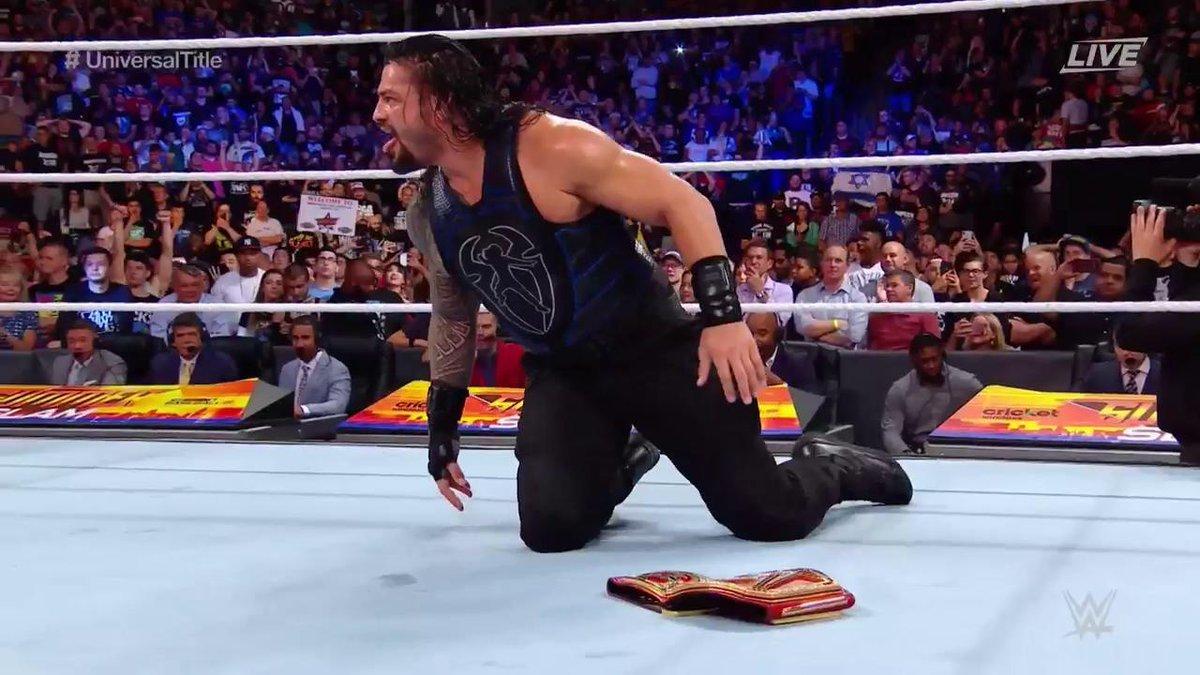 Roman Reigns tras ganar a Brock Lesnar y proclamarse Campeón...