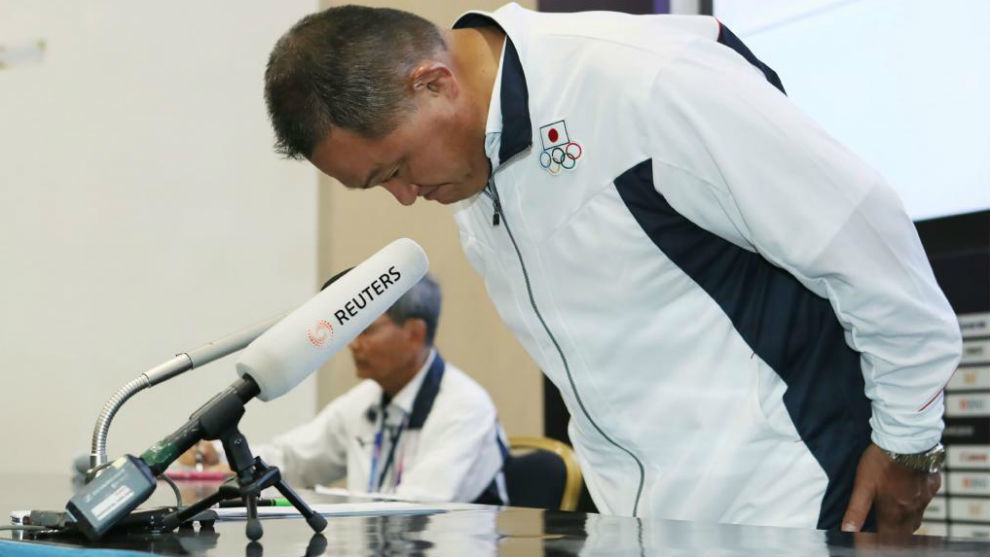 Yasuhiro Yamashita, jefe de la delegación japonesa en los Juegos...
