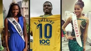 Emenike, ex Las Palmas, divorces Miss Nigeria 2013 and marries Miss...