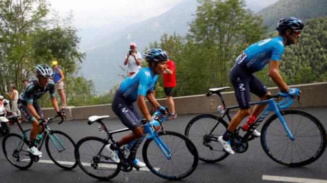 Alejandro Valverde y Nairo Quintana en una etapa del Tour.