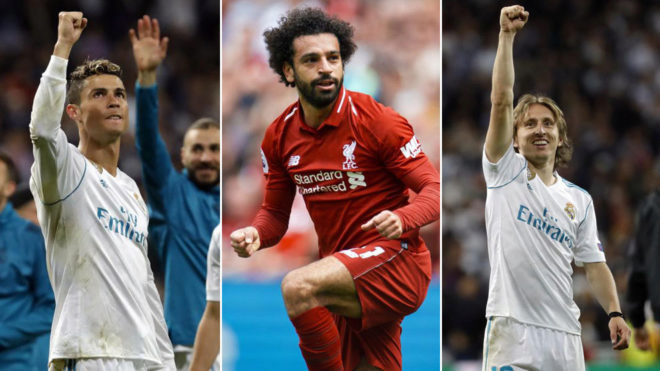 Cristiano Ronaldo, Mohamed Salah, Luka Modric nominated for UEFA award