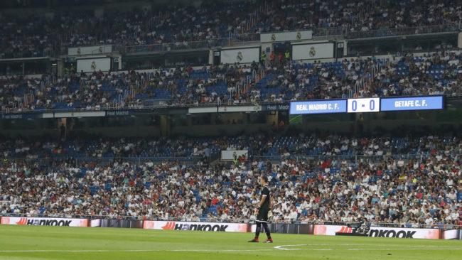 La grada del Bernabéu durante el Real Madrid-Getafe.