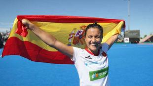 Rocío Gutiérrez, en el Mundial de Londres.