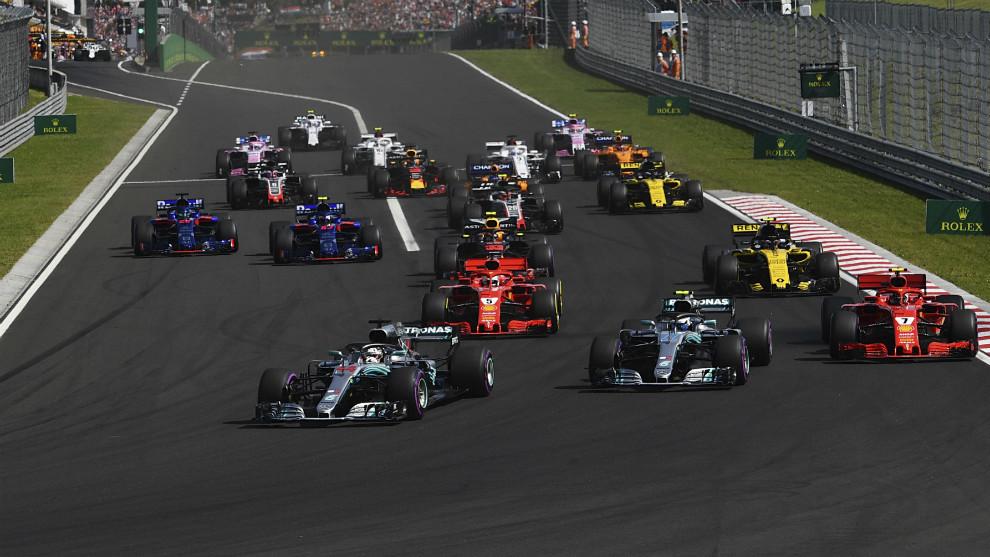 Monoplazas tras la salida del pasado GP de Hungría de F1