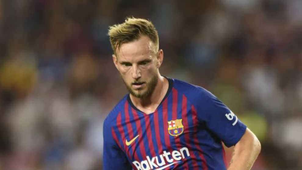 FC Barcelona Croatian midfielder Ivan Rakitic