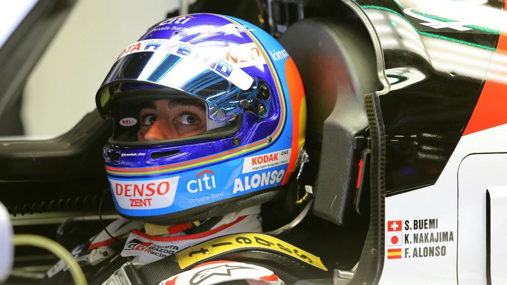 Fernando Alonso, durante su participación en las 6 Horas de...