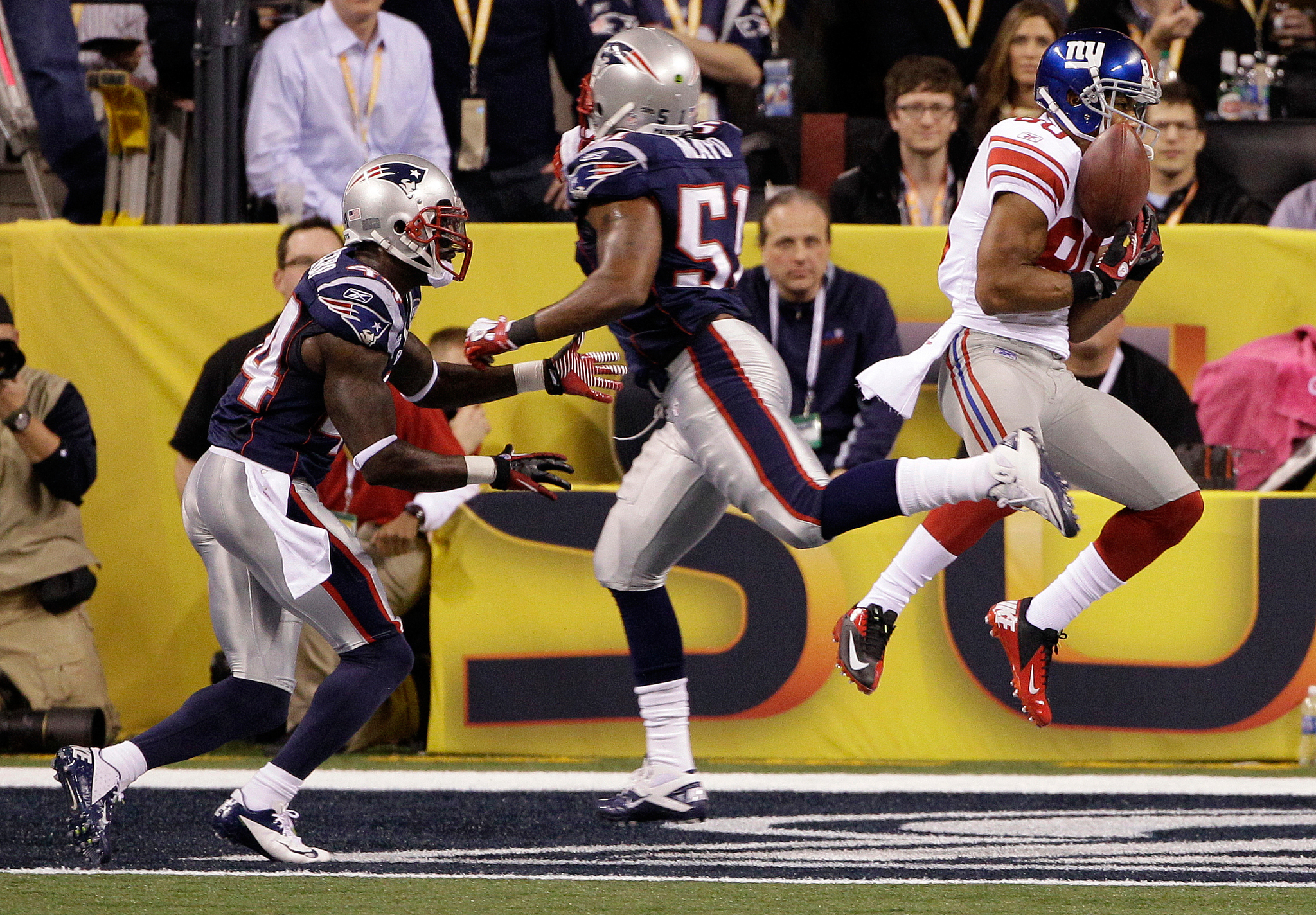 El touchdown de Cruz en el Super Bowl XLVI.