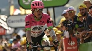 Rigoberto Urán finaliza una etapa del Tour.