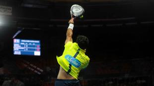 Pablo Lima, en acción en el Valencia Master