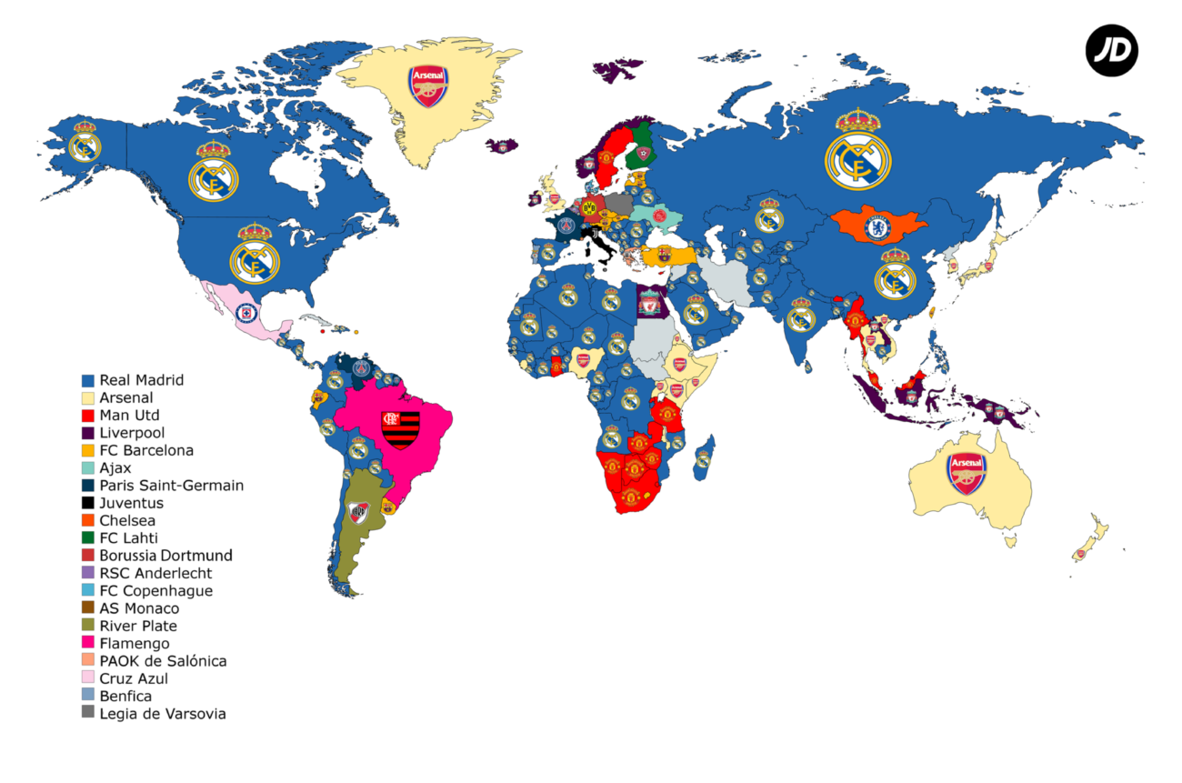 Madrid are dominant across the world