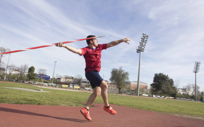Héctor Cabrera, durante un entrenamiento.