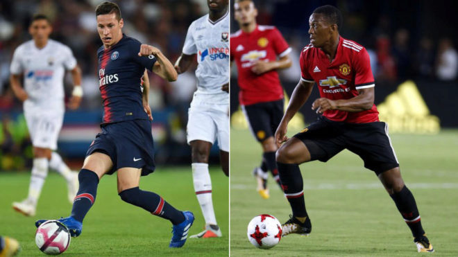 Julian Draxler and Anthony Martial