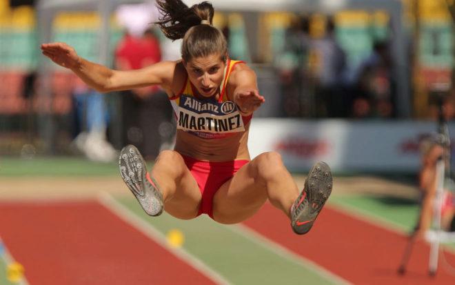 Sara Martínez dominó el salto de longitud de principio a fin.