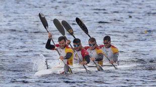 España ya tiene K4 500: Craviotto refuerza a la embarcación...