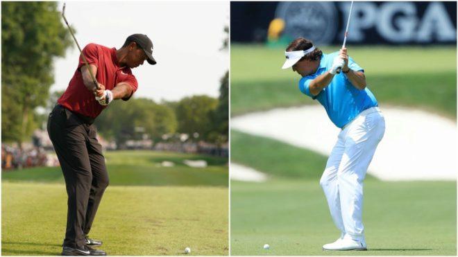 Tiger Woods y Phil Mickelson, en juego